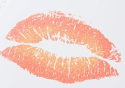 coral lip print