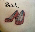 Ruby Slippers Tattoo BACK